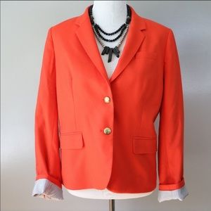 J crew school voy blazer in gorgeous orange